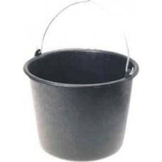 Black Plastic Bucket 16lt