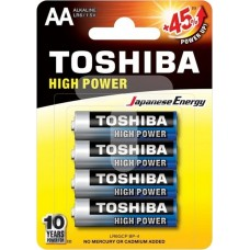 Alkaline Battery AA LR6 4pc. Toshiba