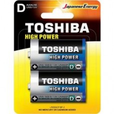 Alkaline Battery D LR20 2pc. Toshiba