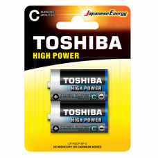 Alkaline Battery C LR14 2pc. Toshiba