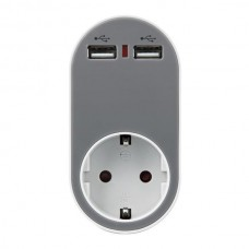 Adaptor Schuko with 2 USB Ferrara