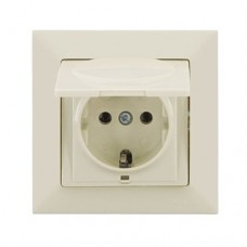 Earth Socket outlet with cover Mutlusan