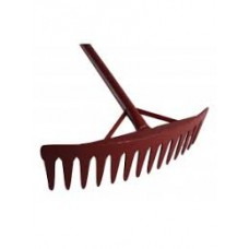 Rake with metal Helve