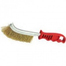 Wire brush with plastic handle no10