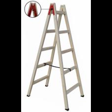 Folded Wooden Ladder 5+5 Steps 1.75m