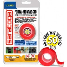 Double-sided Tape 50kg Saratoga Transparent