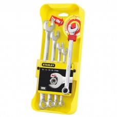 Set of 5 Ratcheting Combination Spanners Stanley